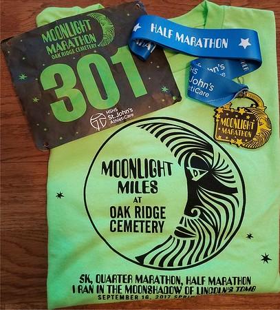 2017 Moonlight Marathon September 16th Oak Ridge Cemetery, Springfield IL