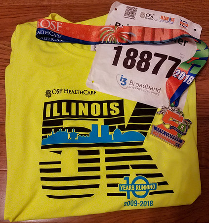 Illinois Marathon I-Challenge Half 5K April 2018