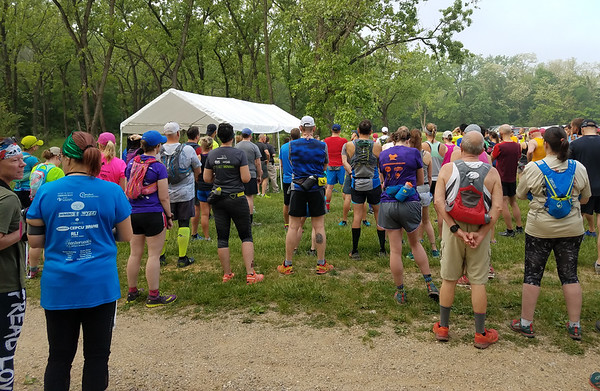 Blue Chevy Trail Classic Half Marathon, Farmdale Reservoir IL May 2018