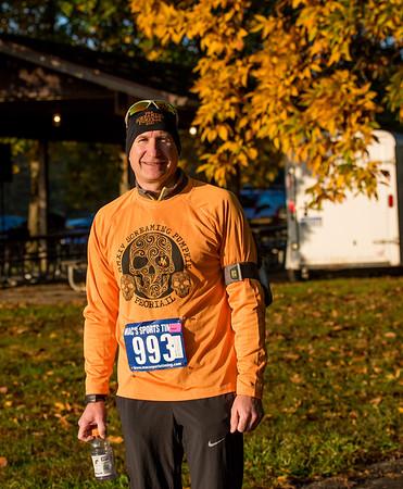 Sandhill Crane 1/2 Marathon Trail Race Vandalia Michigan, October 13, 2018