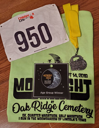 Moonlight Miles Half 2019 at Oak Ridge Cemetery, Springfield IL