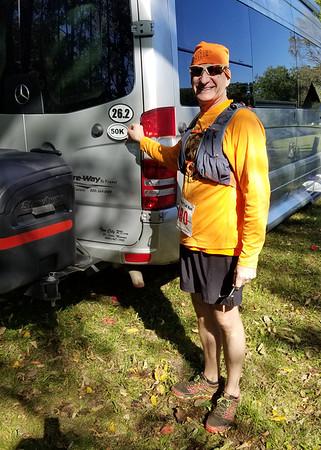 Farmdale Reservoir 30 Mile/50K trail run October, 2019