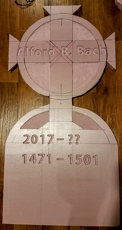 Project Alford B Bach Tombstone Halloween 2017