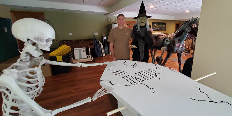 Project Foam Coffin Halloween Project for Haunted Trail of Tears 2020